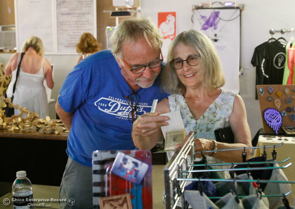 . The 4th annual Maker Show Case Saturday August 5, 2017 at Idea Fab Labs in Chico, California. (Emily Bertolino -- Enterprise- Record)