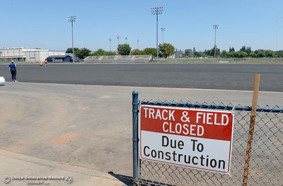 Construction of the new football field at Pleasant Valley High School shows progress in Chico, Calif. Mon. Aug. 1, 2016. (Bill Husa -- Enterprise-Record)