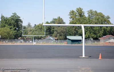 Construction of the new football field at Chico High shows progress in Chico, Calif. Mon. Aug. 1, 2016. (Bill Husa -- Enterprise-Record)