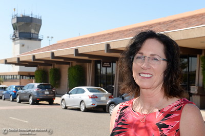 Sherry Miller, the new Chico Municipal Airport Manager smiles at the airport Tuesday Aug. 2, 2016. (Bill Husa -- Enterprise-Record)