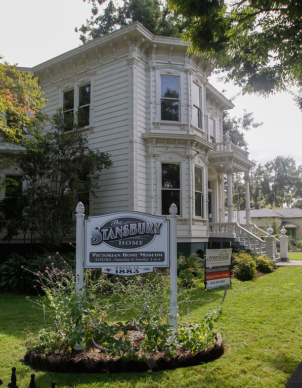 . Exterior renovation has started on the Stansbury Home in a manner that will preserve it\'s historic significance September 6, 2017 in Chico, California. (Emily Bertolino -- Enterprise-Record)