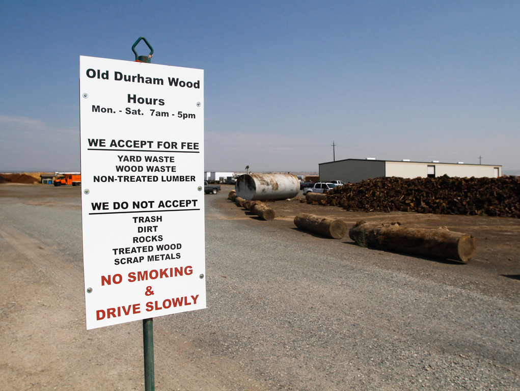 . Old Durham Wood, a green waste processing facility accepts free yard, wood and non-treated lumber waste and turns it into compost Wednesday September 6, 2017 in Durham, California. (Emily Bertolino -- Enterprise-Record)