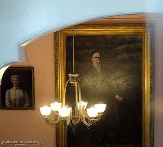 Portraits of Annie and John Bidwell are seen in the foyer during a tour of the Bidwell Mansion in Chico, Calif. Thurs. Sept. 22, 2016.  (Bill Husa -- Enterprise-Record)