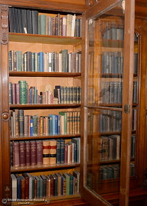 A section of the Bidwell Mansion Library is seen during a tour of the Bidwell Mansion in Chico, Calif. Thurs. Sept. 22, 2016.  (Bill Husa -- Enterprise-Record)