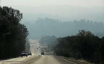 Smoke from the Ponderosa Fire is seen from an area above Oroville, Calif. Wednesday Aug. 30, 2017.  (Bill Husa -- Enterprise-Record)