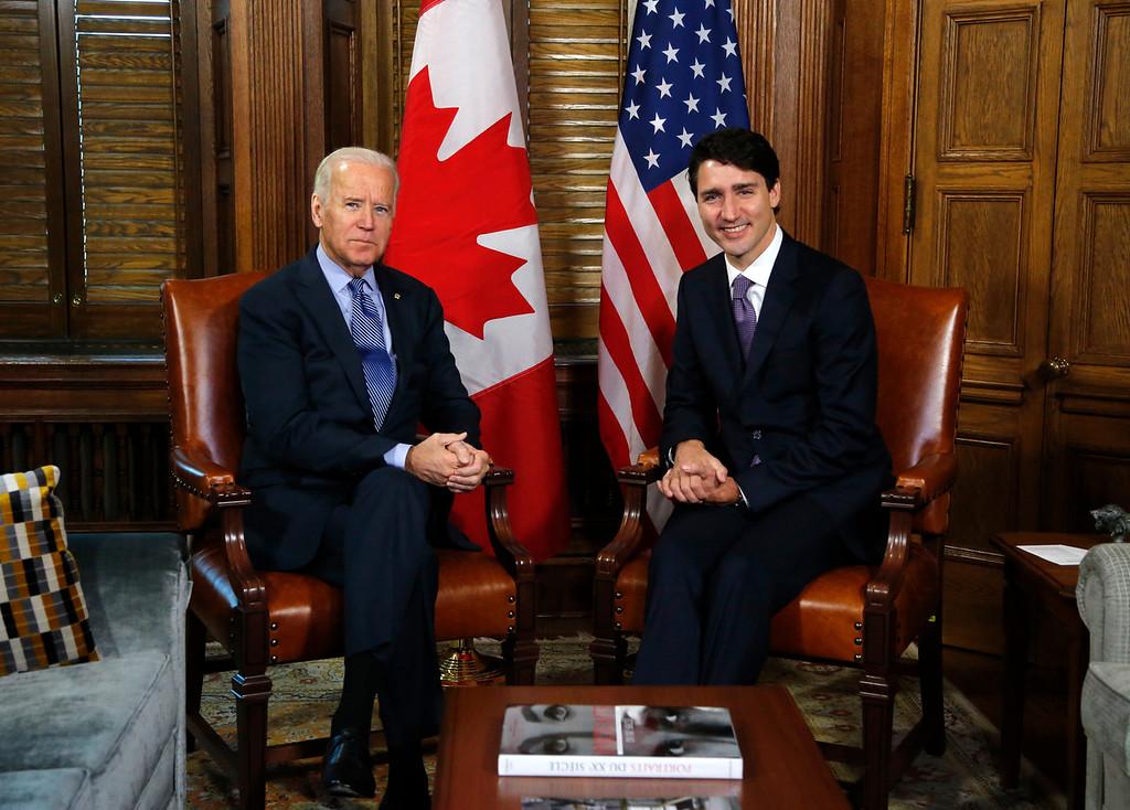 Justin Trudeau, Joe Biden