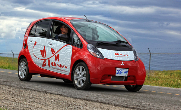 Mitsubishi MiEv Electric Vehicle.