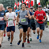 Prime Minister Justin Trudeau takes part in the BMO Army Run in Ottawa on September 17, 2017. Photo by Patrick Doyle.