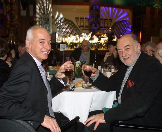 Film Fest Dinner. (left) Organizer, Didier Farré and Jacques Le Glou. Photo by Patrick Doyle.