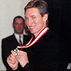 Wayne Gretzky receives the order of Canada.