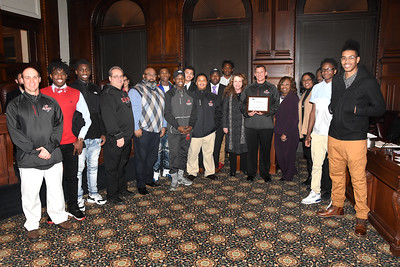 City honors youth sports teams. 1/23/2018