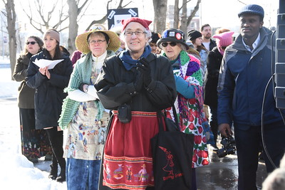 City participates in women's rally downtown. 1/20/2018