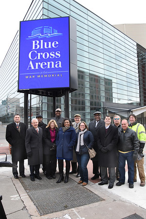 City unveils marquee at Blue Cross Arena. 12/28/2016