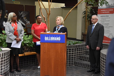City welcomes Sen. Gillibrand to H&C Tool Supply. 5/14/2018