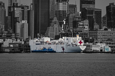 USNS Comfort Docked in NYC