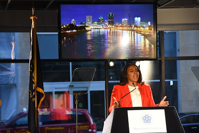 Mayor Warren delivers her State of the City Address. 4/24/2017