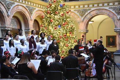 Mayor and Santa light City Hall Christmas tree. 11/30/2017