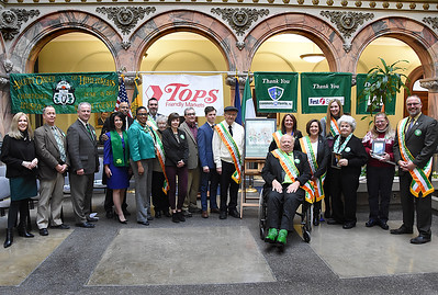 Officials announce St. Patrick's Day parade honorees. 3/2/2017