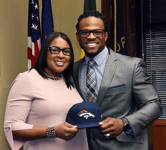 Quentin Gause visits City Hall - 1/27/2017