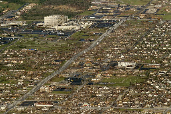 Aerial photos of Joplin tornado damage