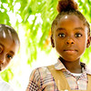 Photo courtesy of Jared Kohler<br /> Students wait to be called to their classrooms in Taifer, Haiti.