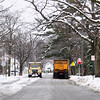 Record-Eagle/Keith King<br /> Snowplows pass each other along 11th Street Wednesday, April 20, 2011 in Traverse City.