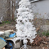 Record-Eagle/Vanessa McCray<br /> <br /> Get a jump start on holiday preparations. Here: Artificial white Christmas tree.  Found: 5:28  p.m. on April 29.
