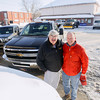 Record-Eagle/Keith King<br /> Don Miller, left, and Paul Christiansen, both of Leelanau County, stand in Maple City.