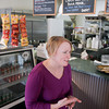 Record-Eagle/Keith King<br /> Mary MacDonald, owner of Pegtown Station in Maple City, talks about this winter's snowfall.