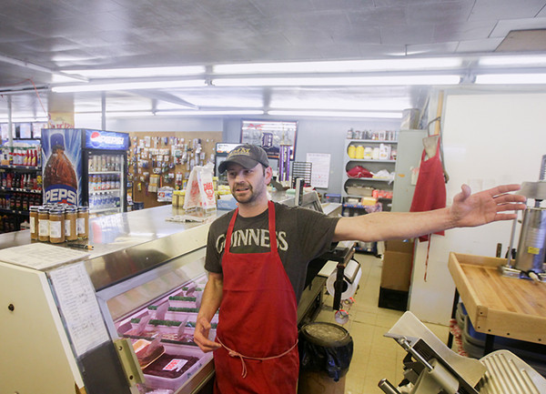 Record-Eagle/Keith King<br /> Mike Gabourie Jr., with Gabe's Country Market, talks about snow and its effect on business and the area of Maple City.