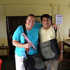 Special to the Record-Eagle/Karen Nelson<br /> Nelson is pictured with teaching partner and host teacher Kiran Sapkota from SOS Rambuzar School in Pokhara. She is decorated with Tikah powder as a send-off blessing on her last day teaching.