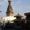 Special to the Record-Eagle/Karen Nelson<br /> Nicknamed the Monkey Temple and situated on a high spot overlooking the entire Katmandu Valley, the structure includes both Hindu shrines, foreground, and a large Buddhist shrine.