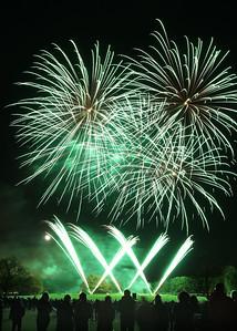 Firework display on Streatham Common