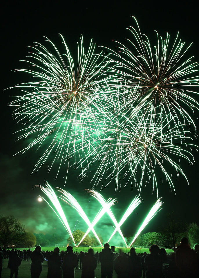 Firework display on Streatham Common