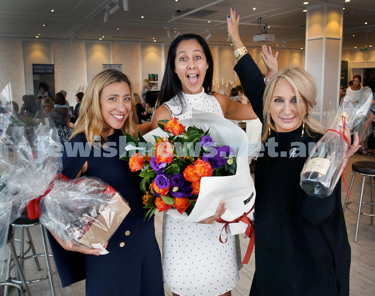 Wizo Valentine's Day function at The Royal Motor Yacht Club. (From left) Natalie Sassoon, Tanya Sassoon, Anat Vidor. Pic Noel Kessel