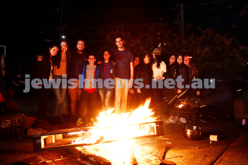 13-5-17. Lag B'omer. Bonfire at Habonim. Photo: Peter  Haskin