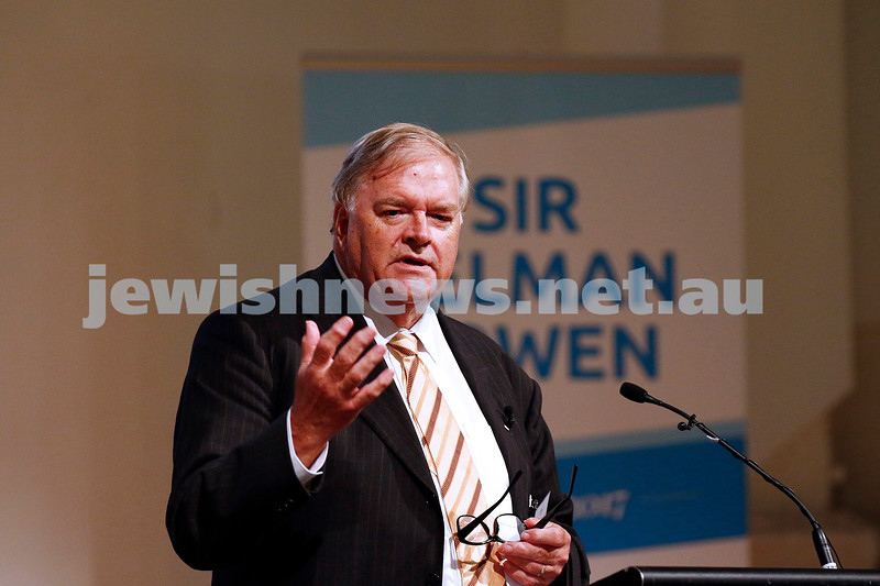 1-3-17. AUJS Sir Zelman Cowen Oration. Kim Beazley. Photo: Peter Haskin
