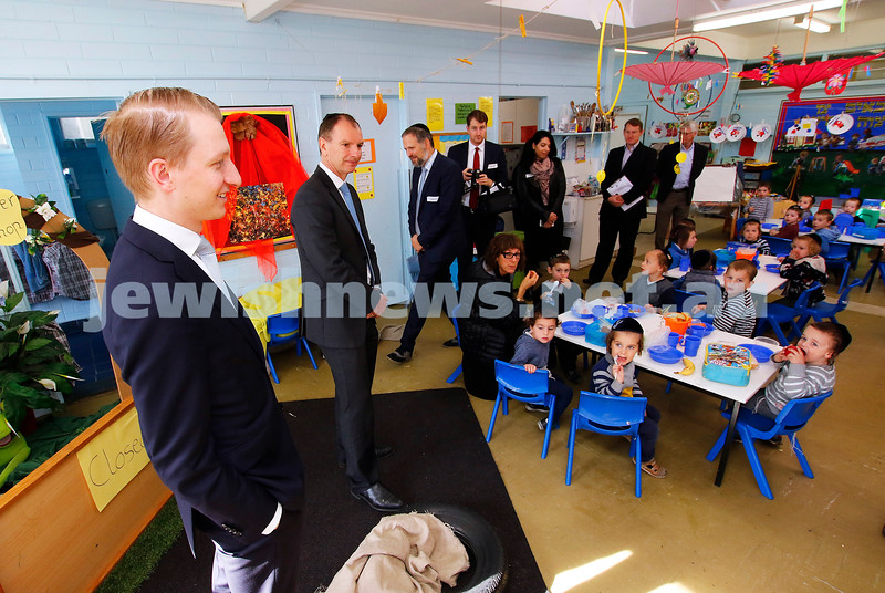18-5-17. Adass Israel School. Refurbishment and purchase of land. Senator James Paterson, David Southwick. Photo: Peter Haskin
