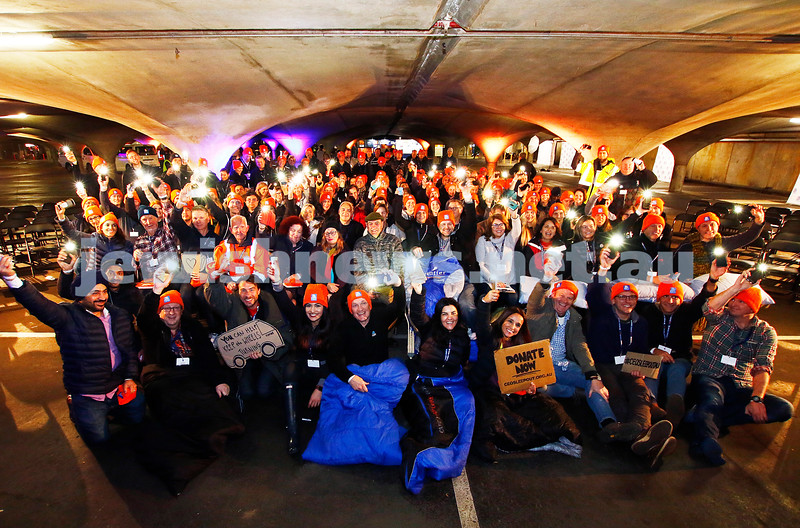22-6-17. St Vincents CEO Sleep Out 2017 at  Melbourne University. Photo: Peter Haskin