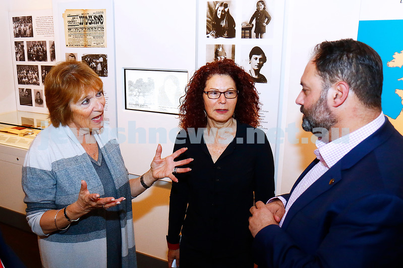 12-5-17. Jewish Holocaust Centre. Checque presented for $750,000 from the State government By Philip Dalidakis. From left: Helen Mahemoff, Sue Hampel, Philip Dalidakis. Photo: Peter Haskin