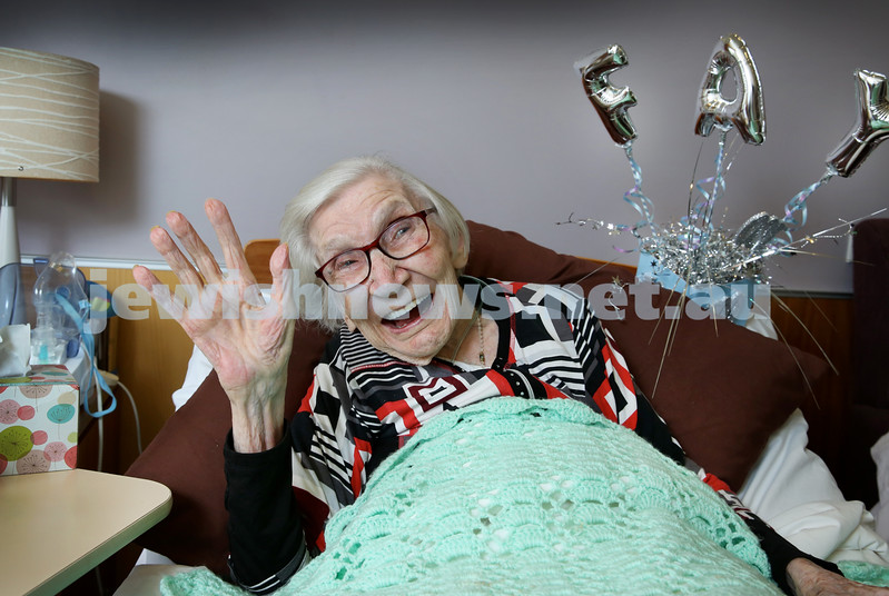 Fay Bernstein who recently turned 100, pictured at Montefiore Home in Randwick. Pic Noel Kessel.