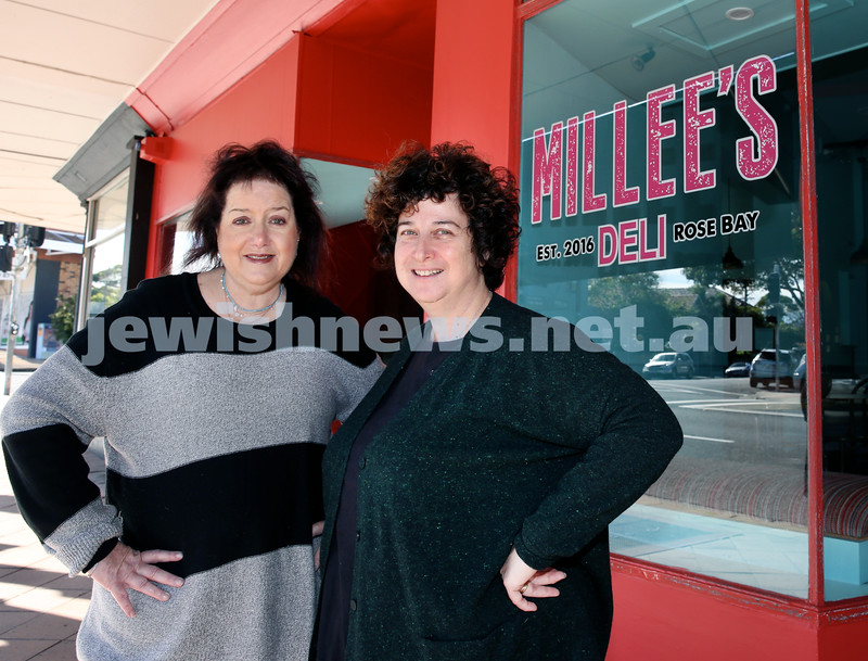 Minette Lee Warden and Dena Miller at Millee's Deli in Rose Bay. Pic Noel Kessel.