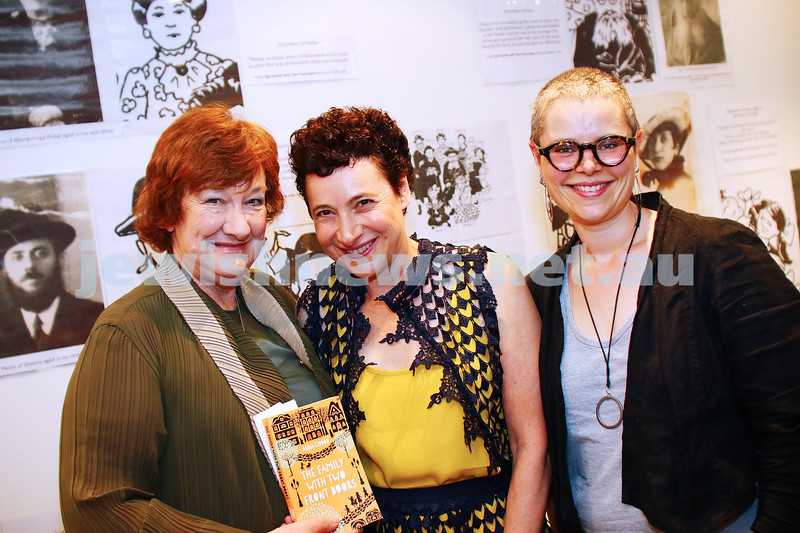 """6-3-16. Book launch a the Jewish Museum of Australia. Anna Ciddor, """"The Family With Two Front Doors"""". Photo: Peter Haskin"""