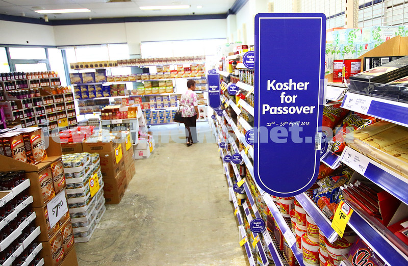 5-4-16. Coles Elsternwick. New Kosher section. Photo: Peter Haskin