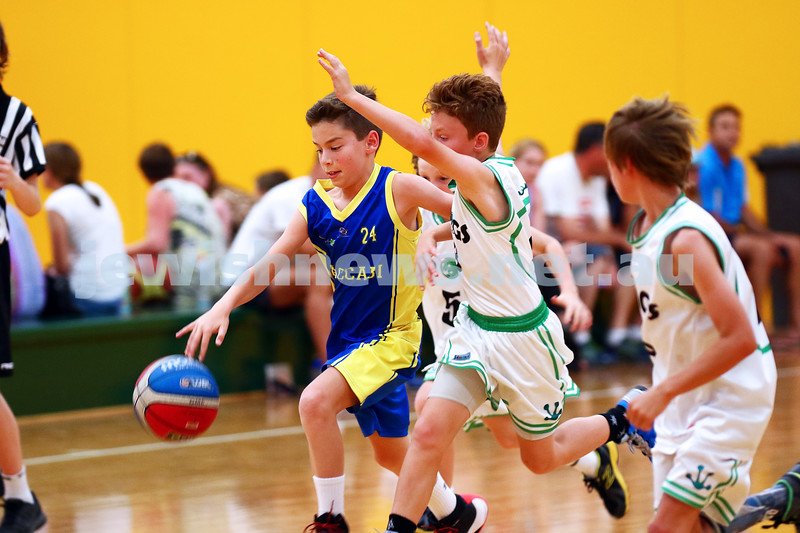 13-2-16. Maccabi Junior Basketball. Jonny Bechler. Maccabi U 12 Spurs def Chadstone Frogs 19-16. Photo: Peter Haskin