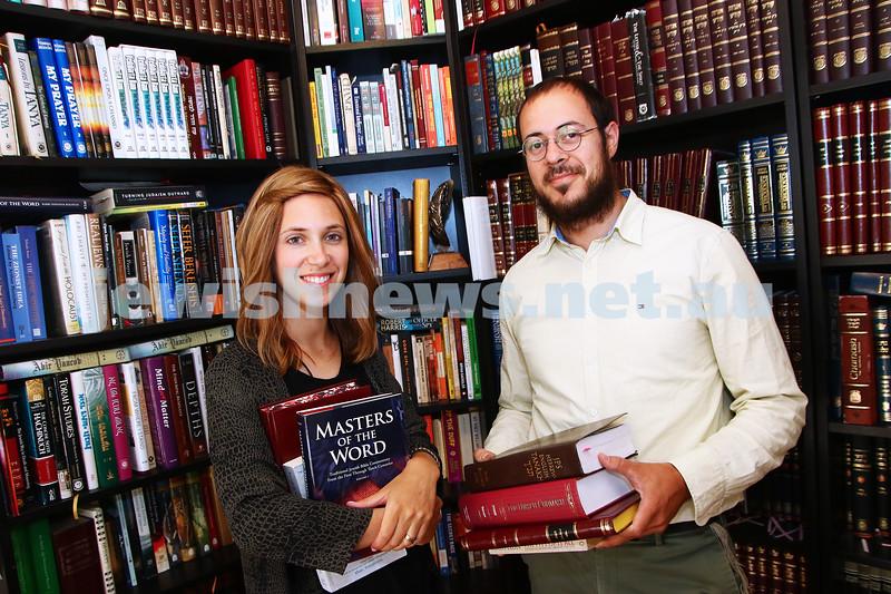 15-1-16. Chaiya and Rabbi Chaim Cowen. Photo: Peter Haskin