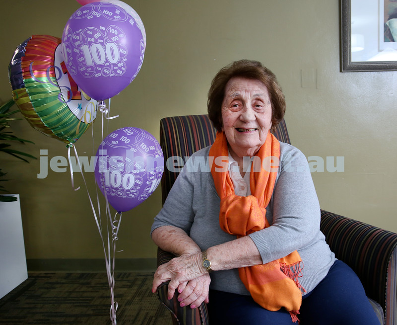 Rae Bass who turned 100 on the weekend. Pic Noel Kessel.