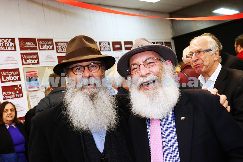16-6-16. 2016 Federal election campaign launch for Michael Danby. Ephraim Finch (left),  Phillip Same. Photo: Peter Haskin