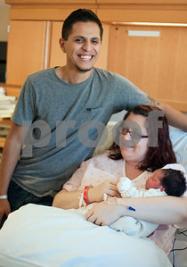 photo by Sarah A. Miller/Tyler Morning Telegraph  Ruben and Chantel Galaz of Lindale gave birth to the first baby of the new year, Gavin Reed Galaz, at 6:33 a.m. Wednesday at East Texas Medical Center in Tyler.