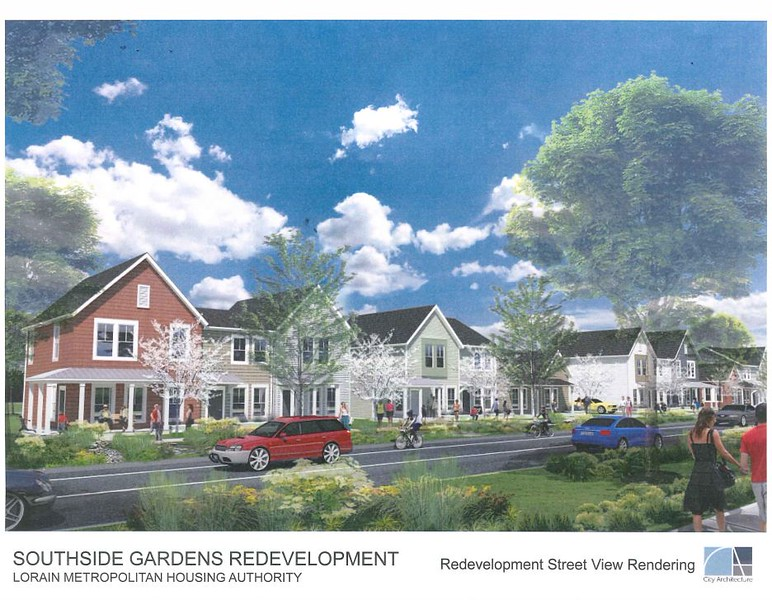 . Rendering courtesy of Lorain Metropolitan Housing Authority
